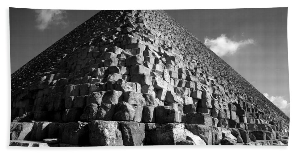 Fallen Stones Bath Towel featuring the photograph Fallen Stones At The Pyramid by Donna Corless