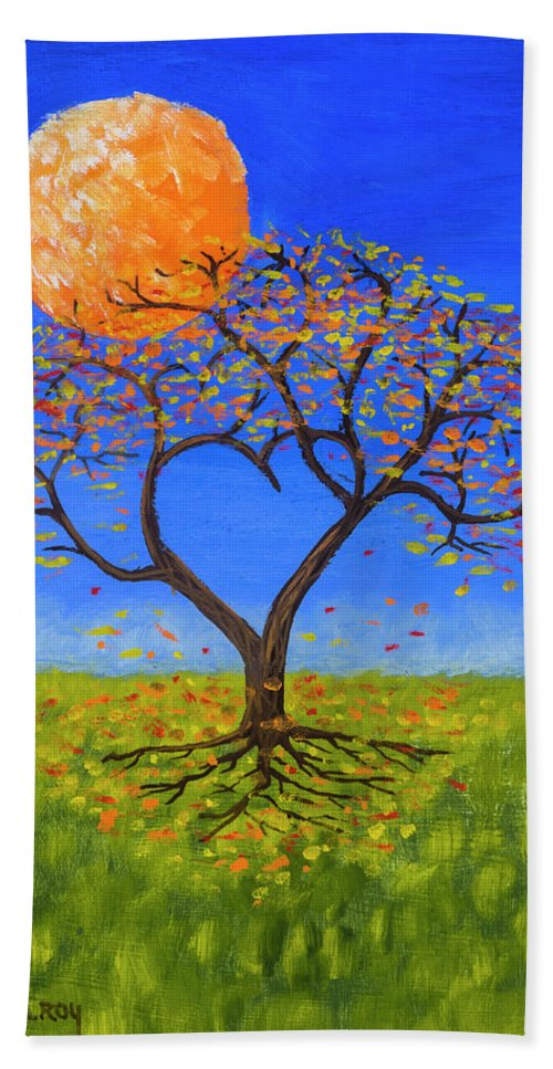 Love Bath Towel featuring the painting Falling For You by Jerry McElroy