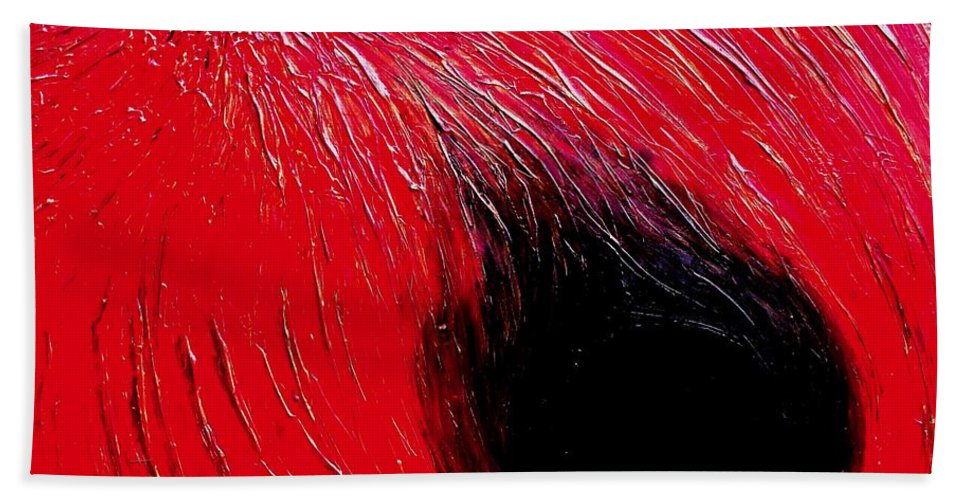 Abstract Bath Sheet featuring the painting Falling In To Passion by Ian MacDonald