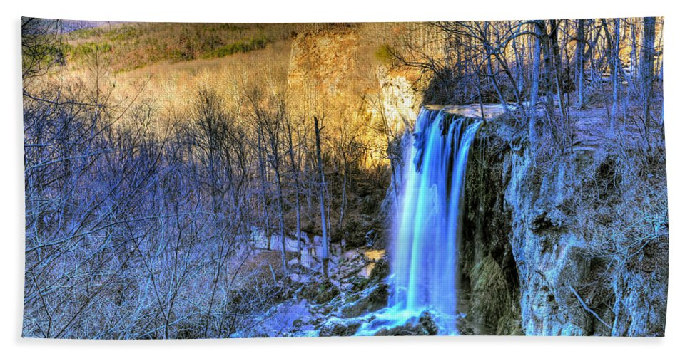 Falling Spring Falls Hand Towel featuring the photograph Falling Spring Falls by Don Mercer