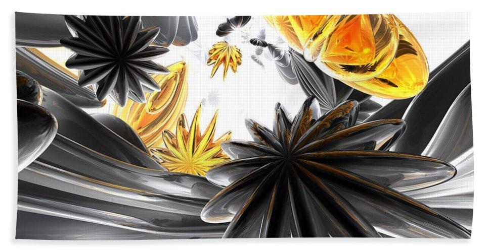 3d Bath Towel featuring the digital art Falling Stars Abstract by Alexander Butler