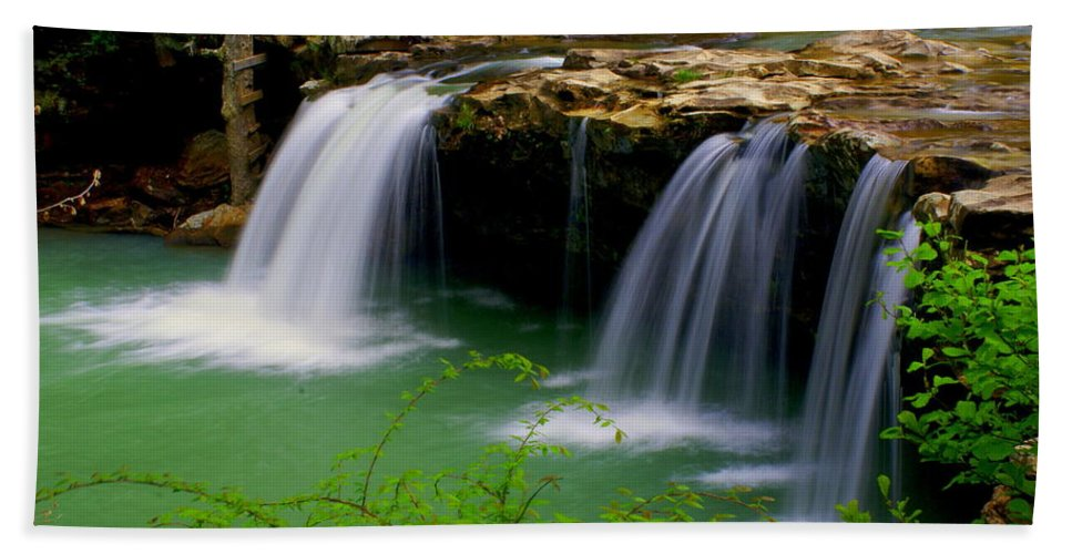 Waterfalls Hand Towel featuring the photograph Falling Water Falls by Marty Koch