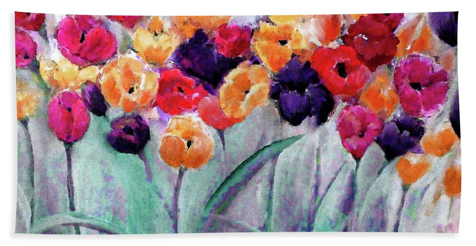 Family Hand Towel featuring the digital art Family Gathering Painting By Lisa Kaiser by Lisa Kaiser