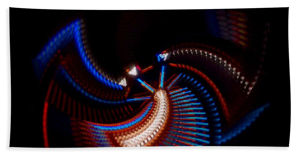 Chaos Hand Towel featuring the photograph Fan Dance by Charles Stuart