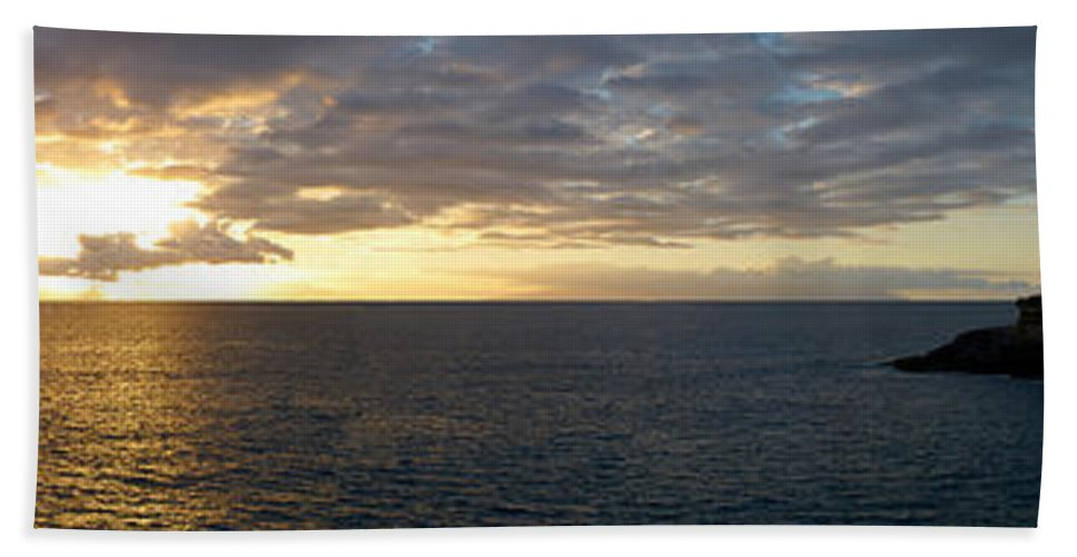 Landscape Hand Towel featuring the photograph Fanabe Sunset by Jouko Lehto