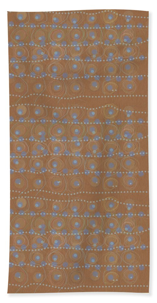 Abstract Hand Towel featuring the digital art Fancy Brown Bag by Mary Jo Hopton