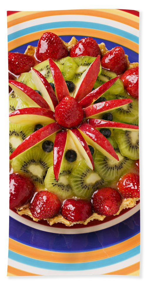 Fruit Bath Towel featuring the photograph Fancy Tart Pie by Garry Gay