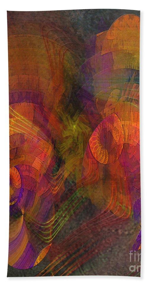 Fandango Mist Hand Towel featuring the digital art Fandango Mist by John Beck