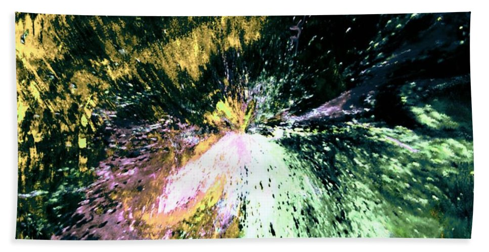 Digital Art Hand Towel featuring the digital art Fanfare by Kendall Eutemey
