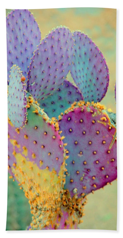 Cactus Bath Sheet featuring the photograph Fantasy Cactus by Susanne Van Hulst