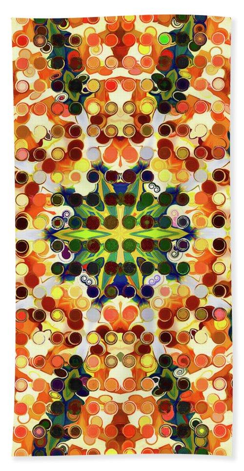 Mandala Art Hand Towel featuring the painting Fantasy by Jeelan Clark