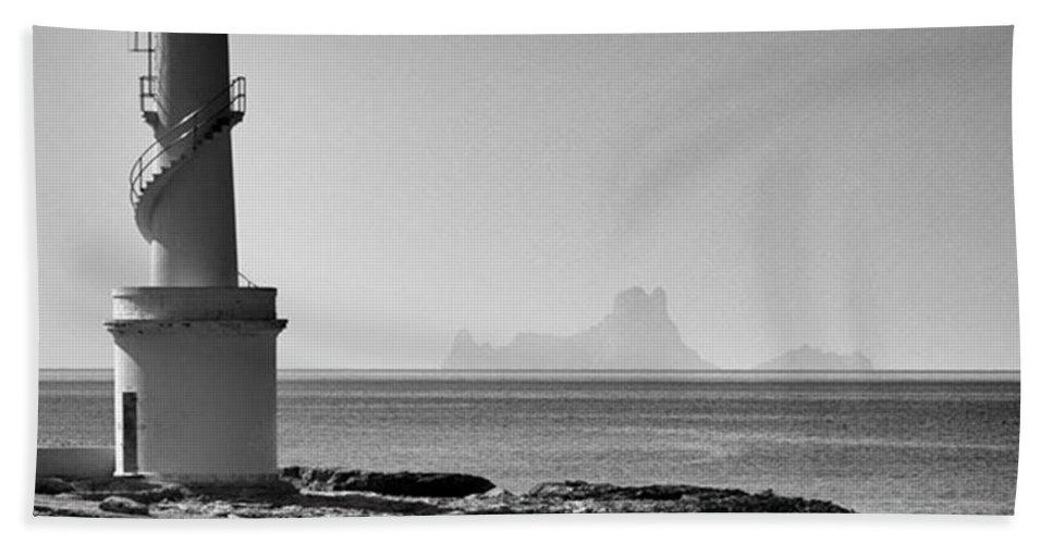 Balearics Bath Towel featuring the photograph Far De La Savina Lighthouse, Formentera by John Edwards
