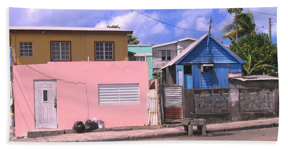 Basseterre Hand Towel featuring the photograph Far From Dull by Ian MacDonald