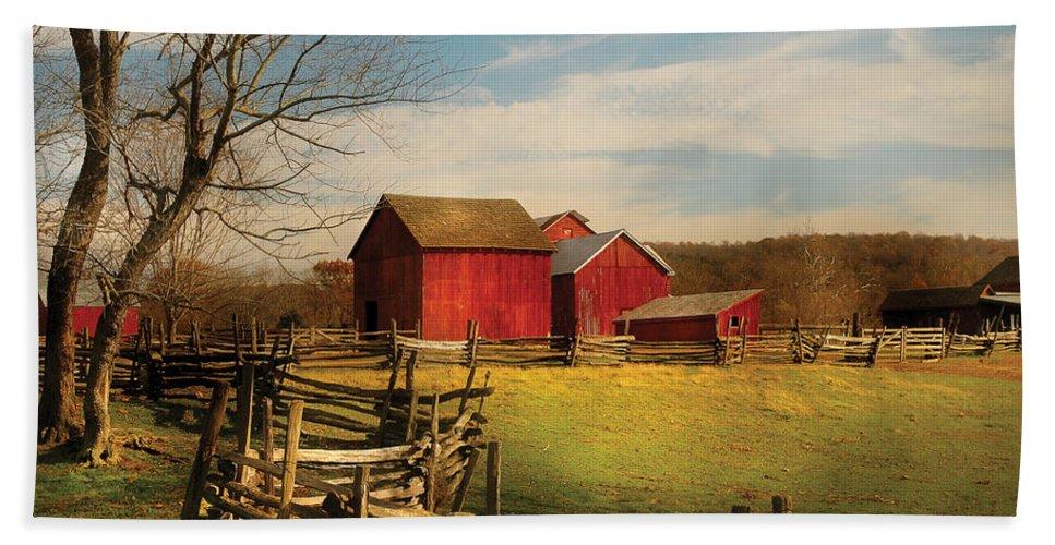 Barn Bath Sheet featuring the photograph Farm - Barn - I Bought The Farm by Mike Savad
