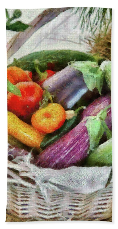 Savad Bath Sheet featuring the photograph Farm - Food - Fresh Vegetables by Mike Savad