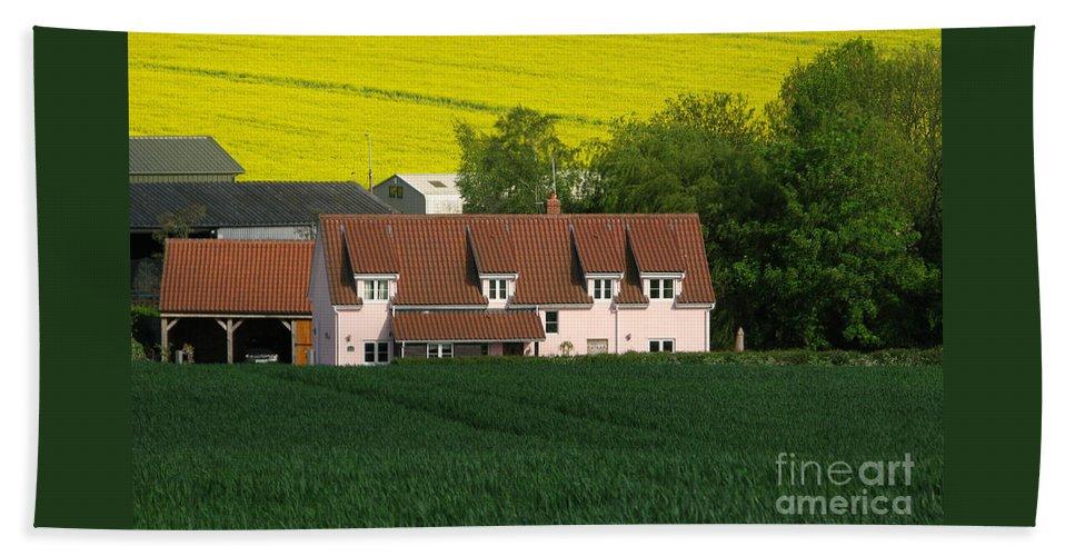 Farm Bath Sheet featuring the photograph Farm Fields by Ann Horn