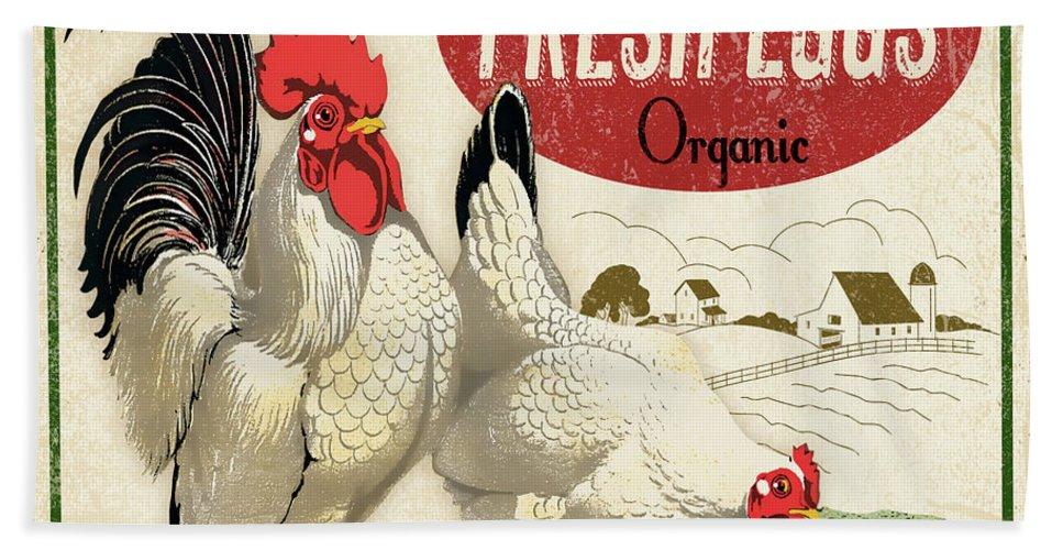 Farm Hand Towel featuring the digital art Farm Fresh Eggs-b by Jean Plout