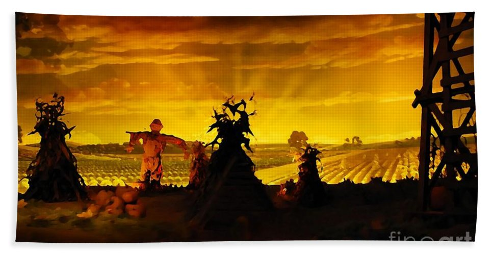 Farm Hand Towel featuring the photograph Farm Scape by David Lee Thompson