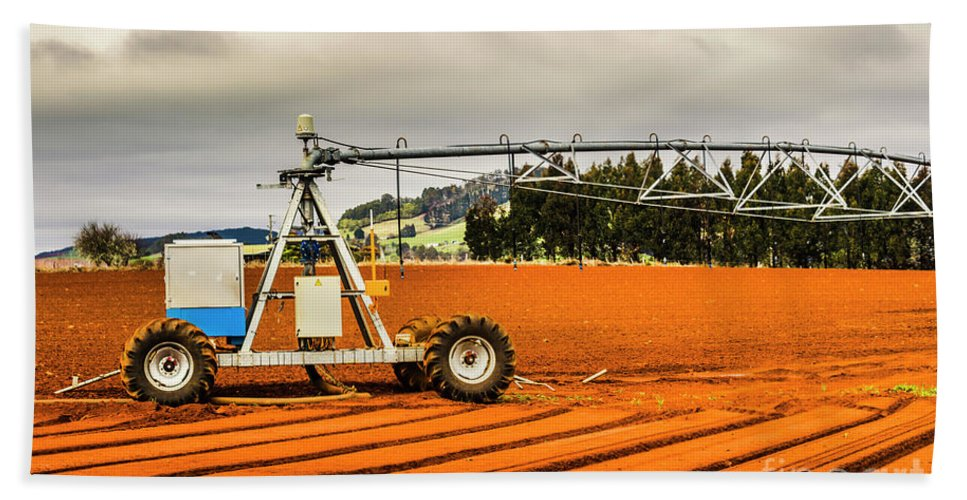Machinery Hand Towel featuring the photograph Farming Field Equipment by Jorgo Photography - Wall Art Gallery