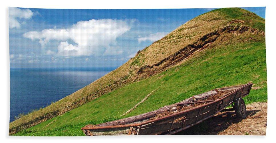 Europe Bath Sheet featuring the photograph Farming In Azores Islands by Gaspar Avila