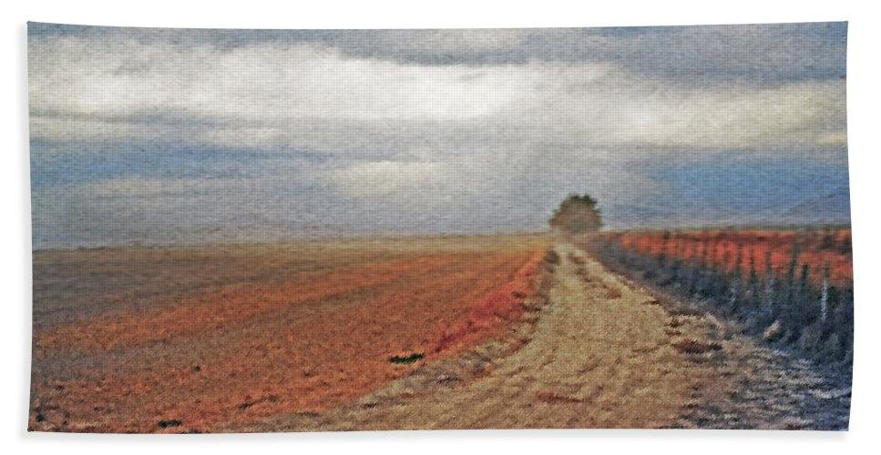 Farmland Hand Towel featuring the photograph Farmland 3 by Steve Ohlsen