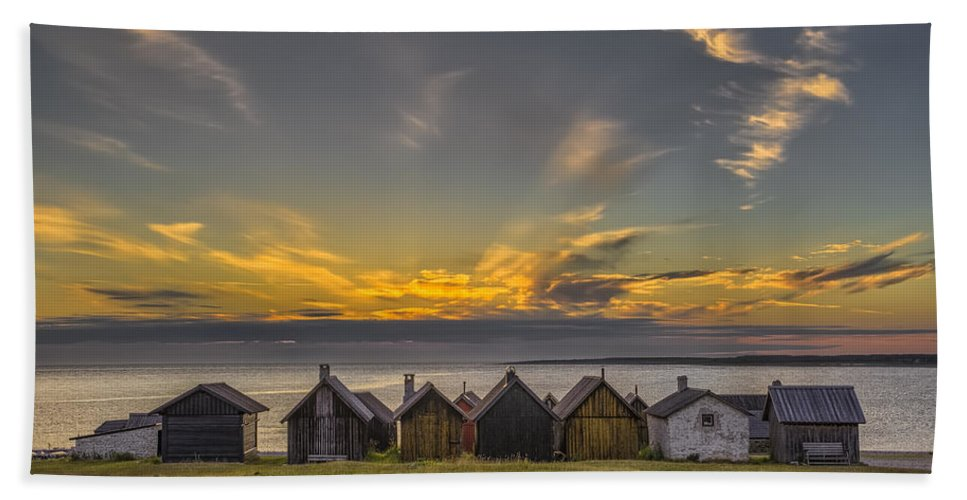 Baltic Sea Hand Towel featuring the photograph Faroe, Gotland, Sweden by Ludwig Riml