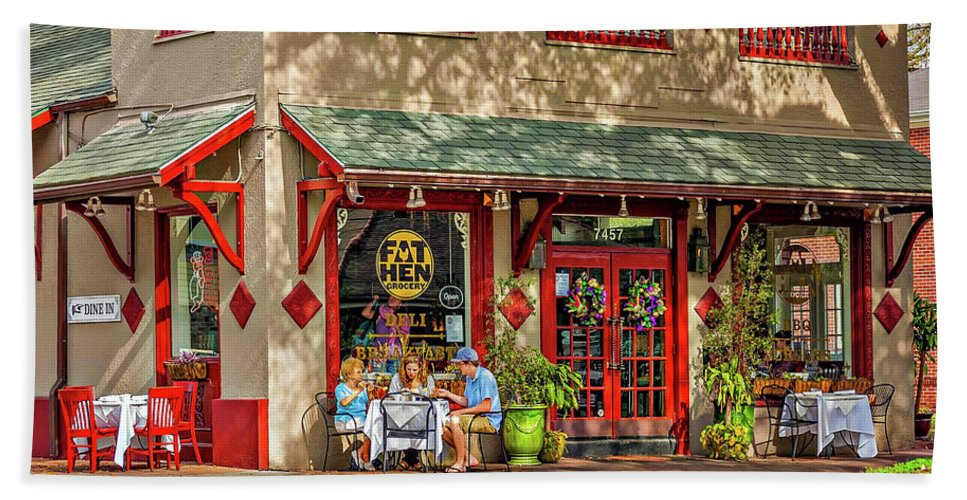 New Orleans Bath Sheet featuring the photograph Fat Hen Grocery - New Orleans by Steve Harrington