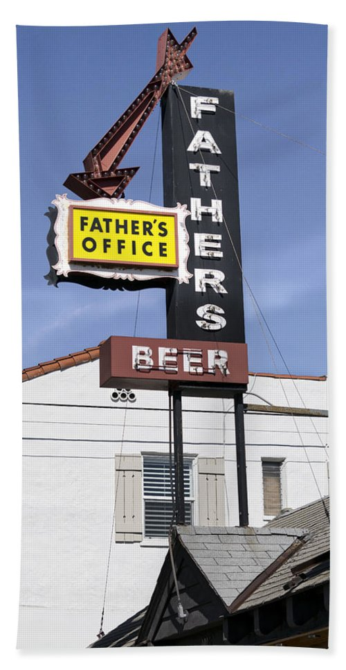 Food And Beverage Hand Towel featuring the photograph Father's Office by Gene Parks
