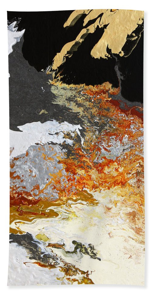 Fusionart Hand Towel featuring the painting Fathom by Ralph White