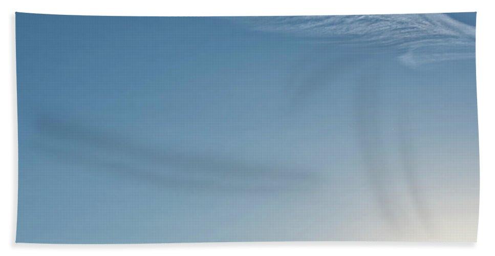 # Art Decor Bath Sheet featuring the photograph Feather Cloud by Anka Wong