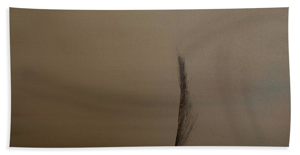 Feather Hand Towel featuring the painting Feather by Jack Diamond