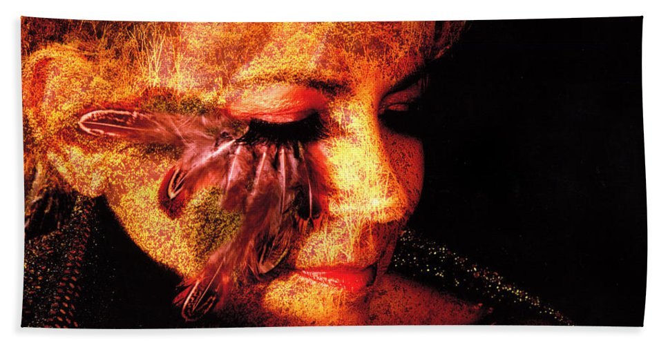 Clay Hand Towel featuring the photograph Feathers Of Beauty by Clayton Bruster
