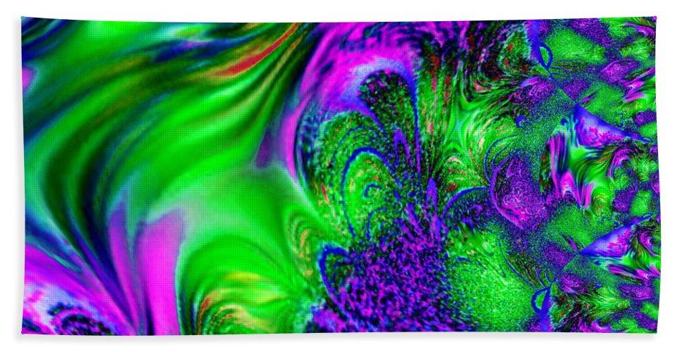 Digital Bath Sheet featuring the digital art Feathery Winds by Lynn Wood