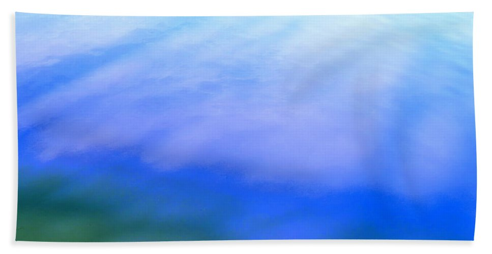 Abstract Bath Sheet featuring the photograph I Feel The Love by Sybil Staples
