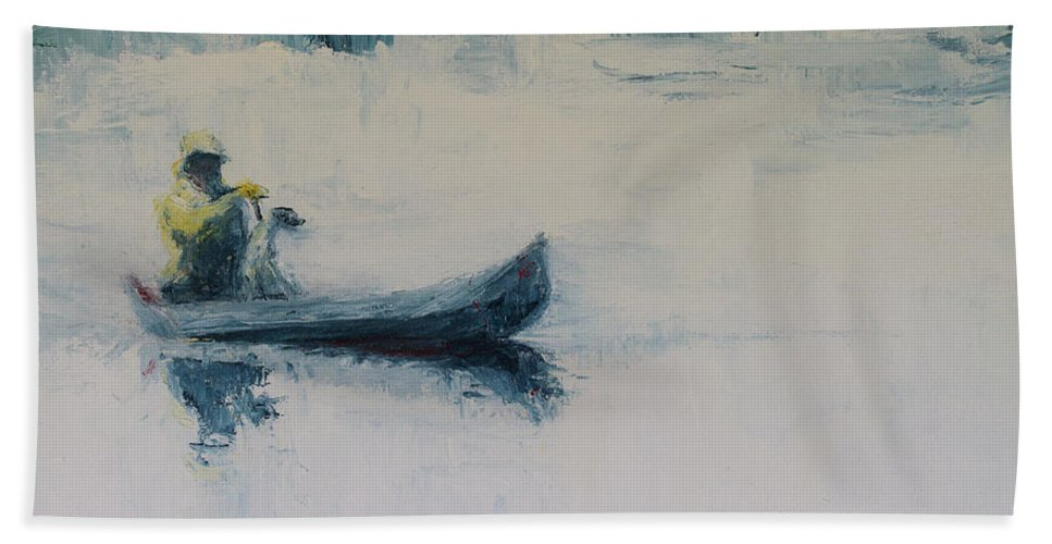 Landscape Bath Sheet featuring the painting Fellow Travelers by Jan Hix