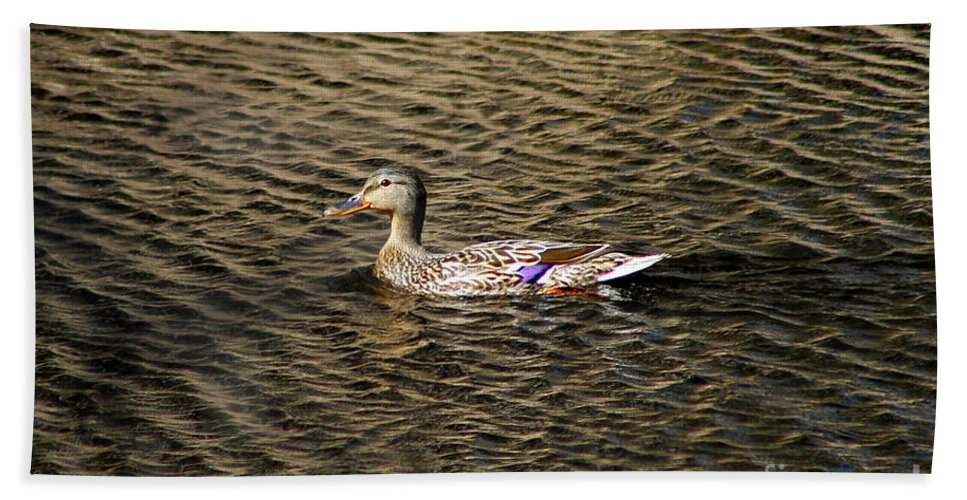 Duck Bath Towel featuring the photograph Female Beauty by Rick Monyahan