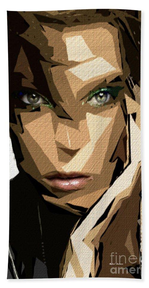Art Bath Sheet featuring the digital art Female Expressions Xliv by Rafael Salazar
