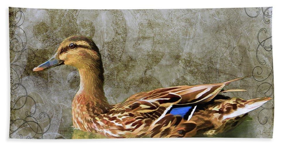 Waterfowl Bath Sheet featuring the photograph Female Mallard by Duane Tucker