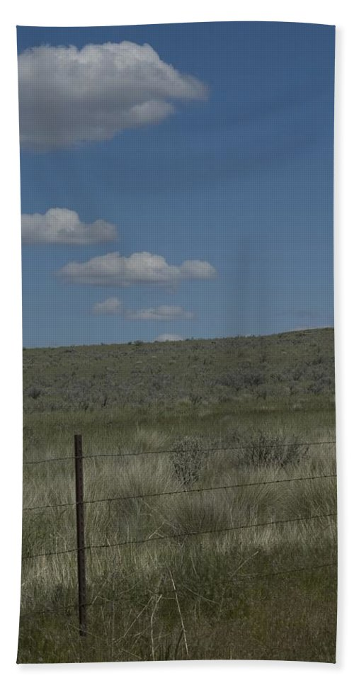 Fenced Bath Sheet featuring the photograph Fenced Clouds by Sara Stevenson