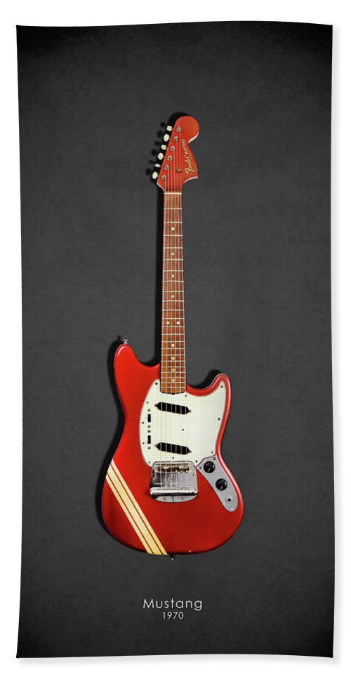 Fender Mustang Bath Sheet featuring the photograph Fender Mustang 70 by Mark Rogan