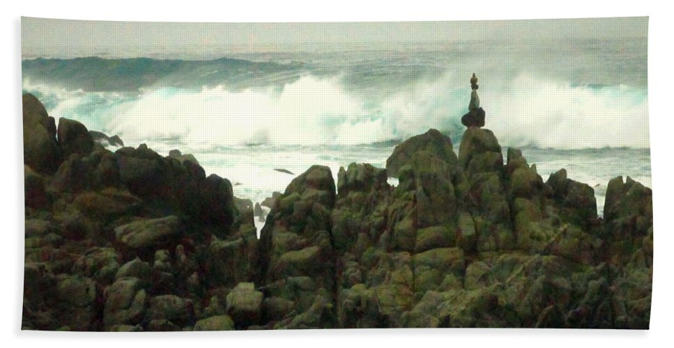 Feng-shui Hand Towel featuring the photograph Feng Shui On The Monterey Peninsula by Joyce Dickens