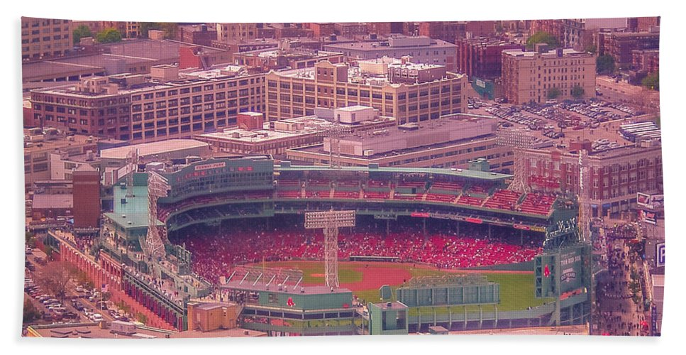 New England Hand Towel featuring the photograph Fenway Park - Boston by Claudia M Photography