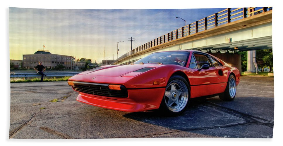 Ferrari Bath Sheet featuring the photograph Ferrari 308 by Joel Witmeyer