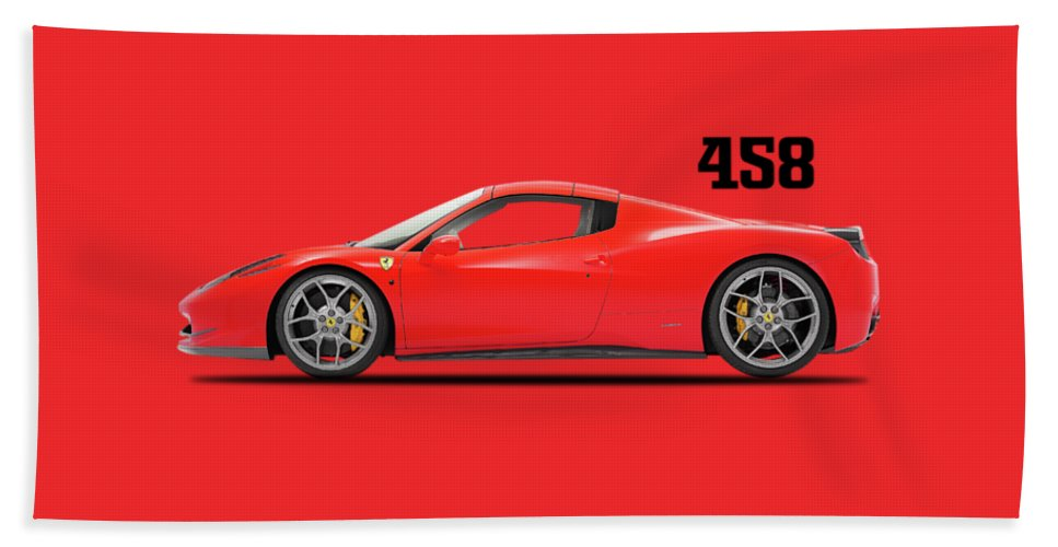 Ferrari 458 Hand Towel featuring the photograph Ferrari 458 Italia by Mark Rogan