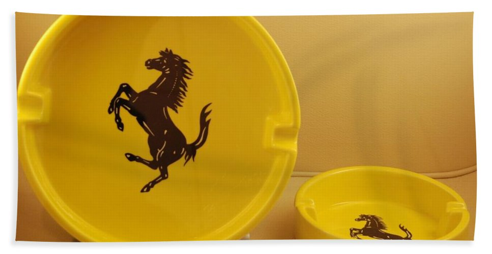 Stallion Bath Sheet featuring the photograph Ferrari Ash Catchers by Rob Hans