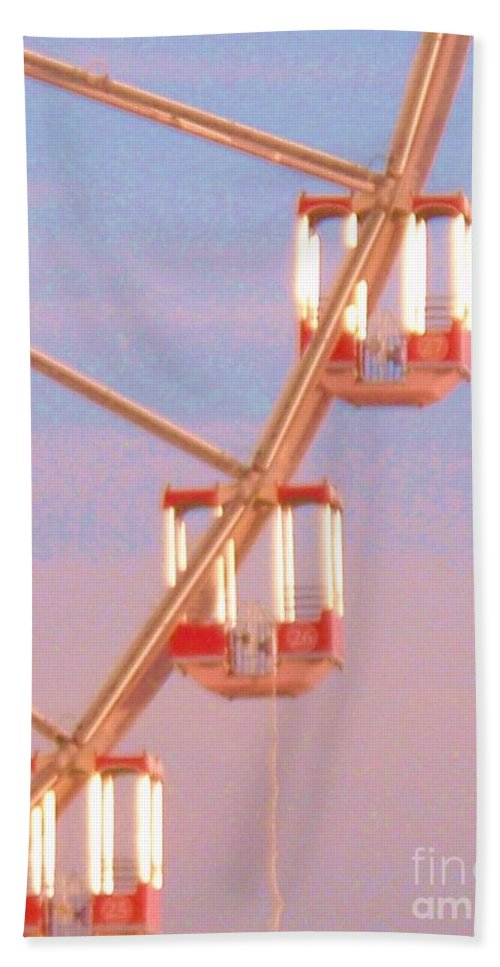 Ferris Wheel Hand Towel featuring the painting Ferris Wheel by Eric Schiabor