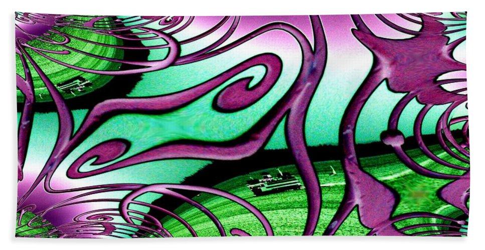 Seattle Hand Towel featuring the digital art Ferry On Elliott Bay 2 by Tim Allen