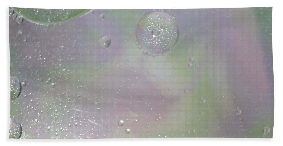 Abstract Hand Towel featuring the photograph Fertilization by Michael Peychich
