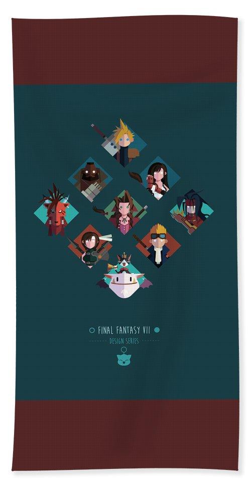 Final Fantasy Bath Towel featuring the digital art FF Design Series by Michael Myers