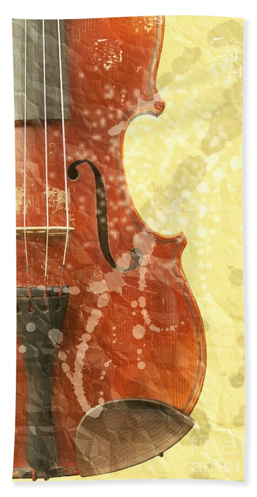 Fiddle Hand Towel featuring the photograph Fiddle by Michal Boubin